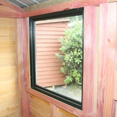 Fixed Window Inside - Garden Shed