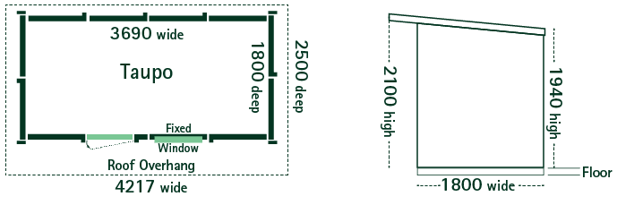 taupo garden shed floor plan
